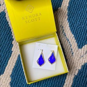 Kendra Scott Alex Earrings in Blue & Gold